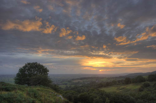 Mendip sunset