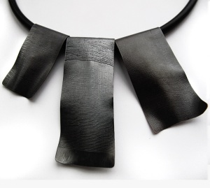 Oxidised sterling silver necklace by Tina Seviour