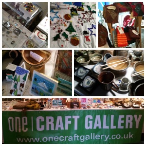 A selection of the lovely items made by the One Craft Gallery members