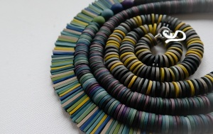 Polymer clay necklaces by Clare Lloyd Colour Designs Jewellery